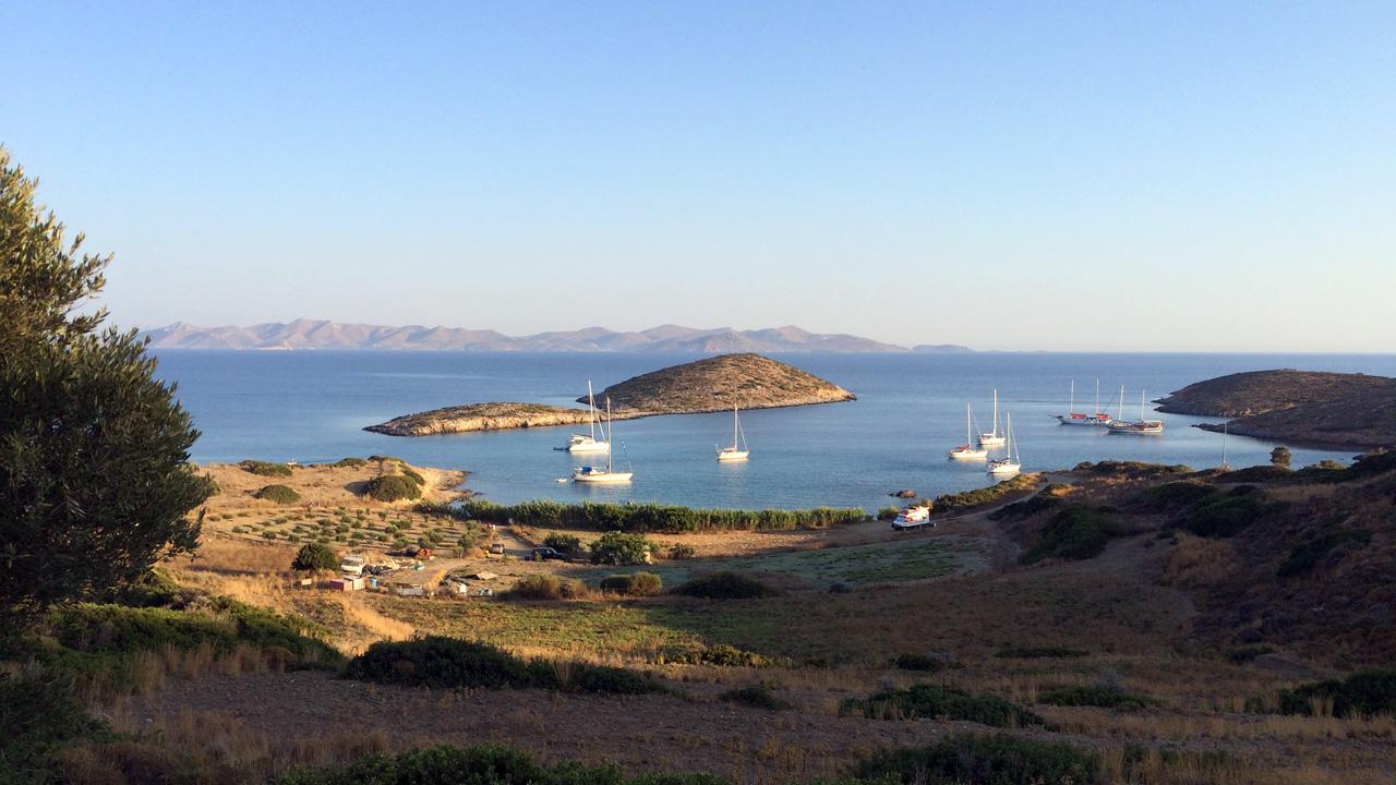 Lipsi, Grèce - Vue sur la baie