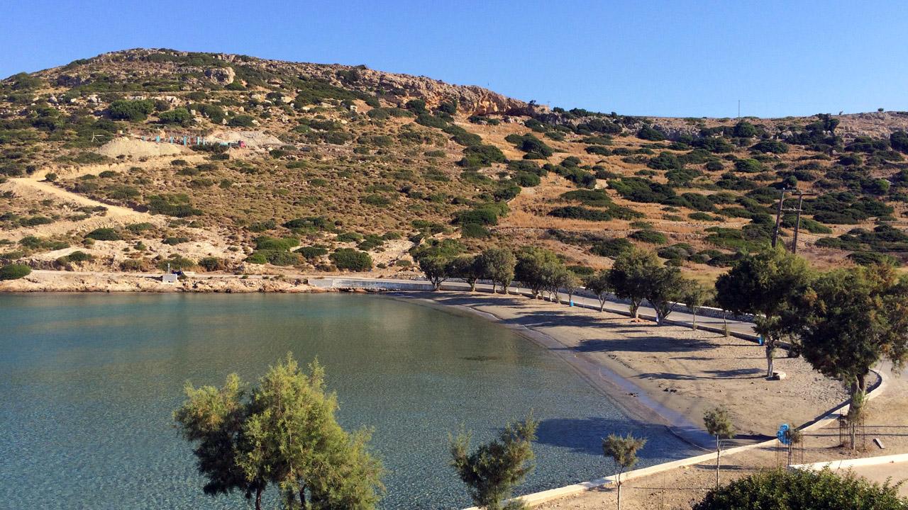 Lipsi, Grèce - la plage de Lientou
