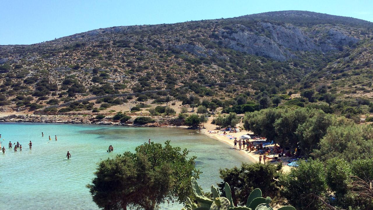 Lipsi, Grece - Vue sur la plage