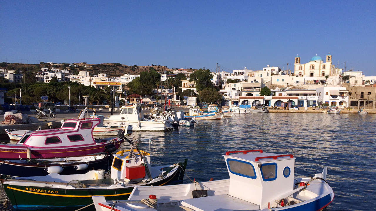 Lipsi, Grèce - Vue sur le port de Lipsi