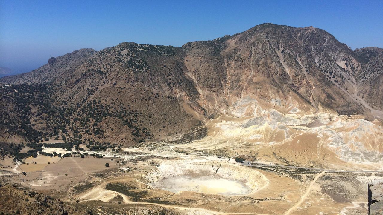 Nisyros - Vue sur la caldeira du volcan