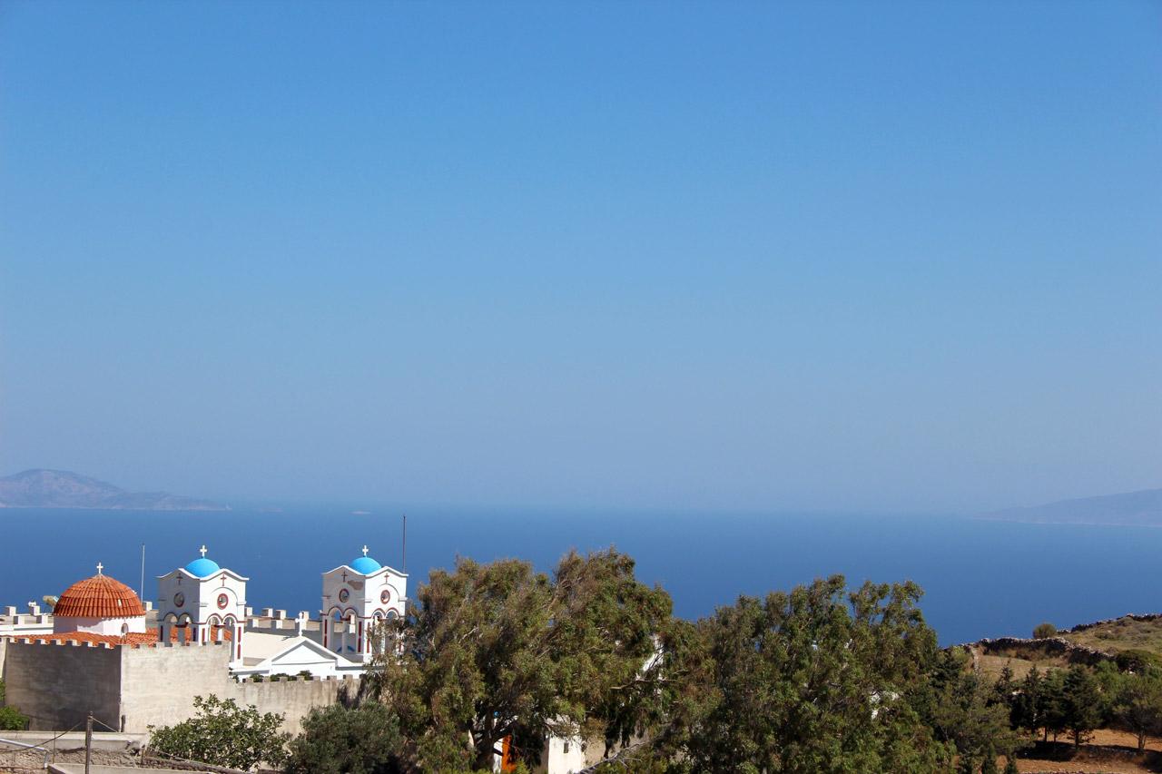 Paros vue sur le monastère