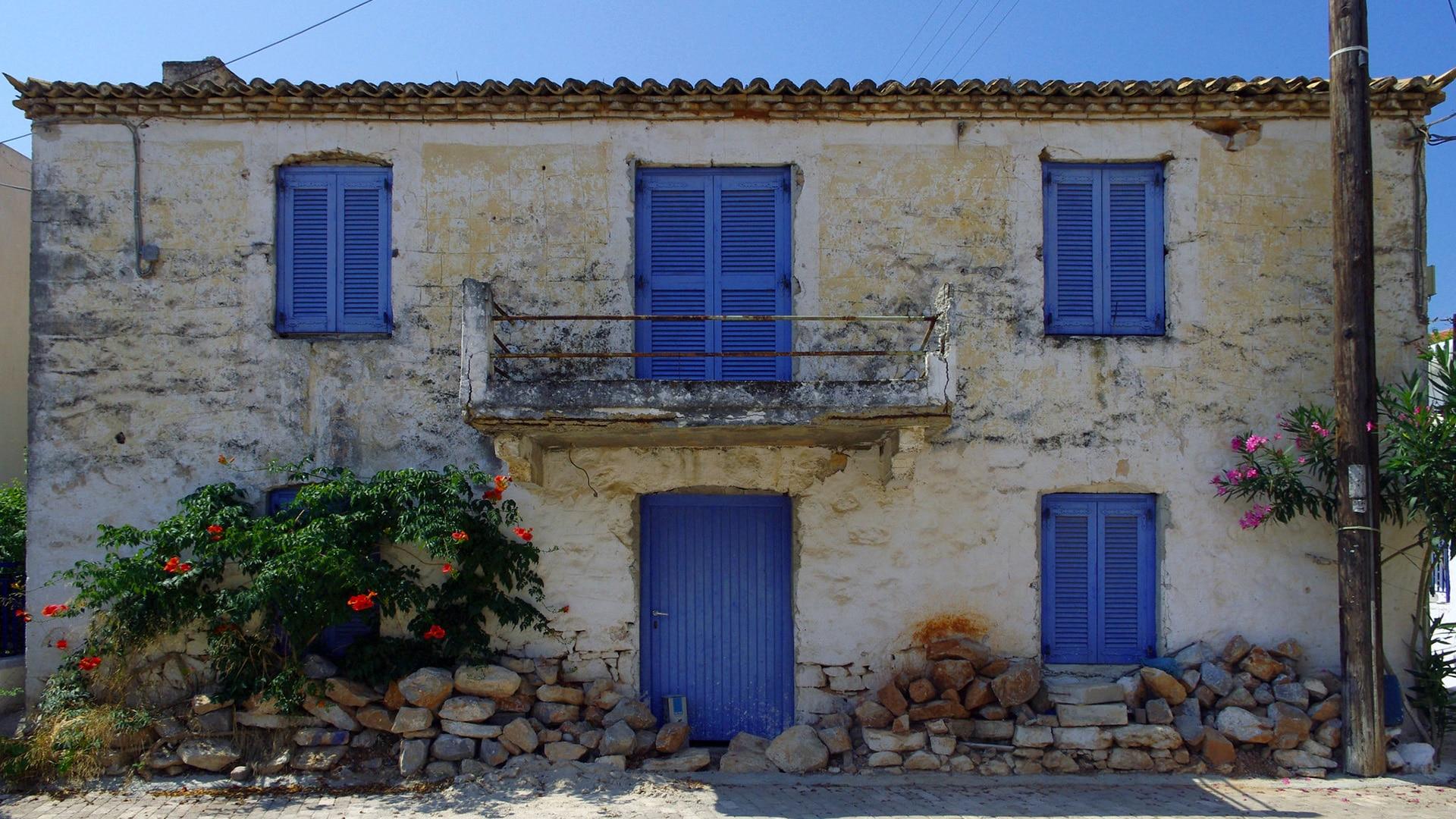 Les îles Saroniques - Maison typique à Agistri