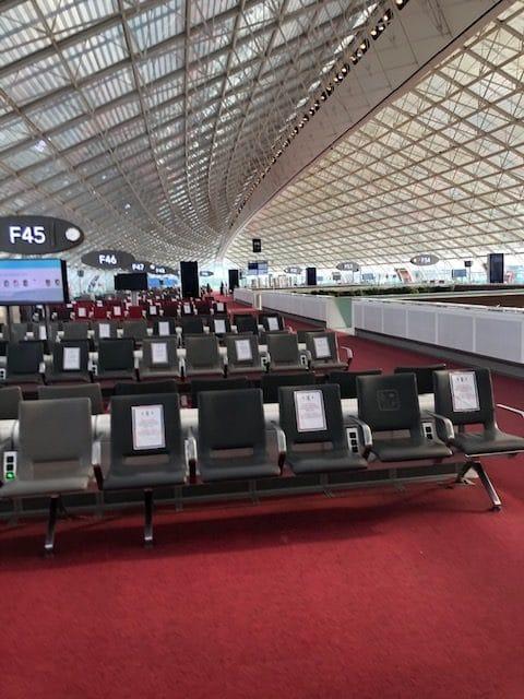 Aeroport CDG - vol paris athènes en période de covid-19