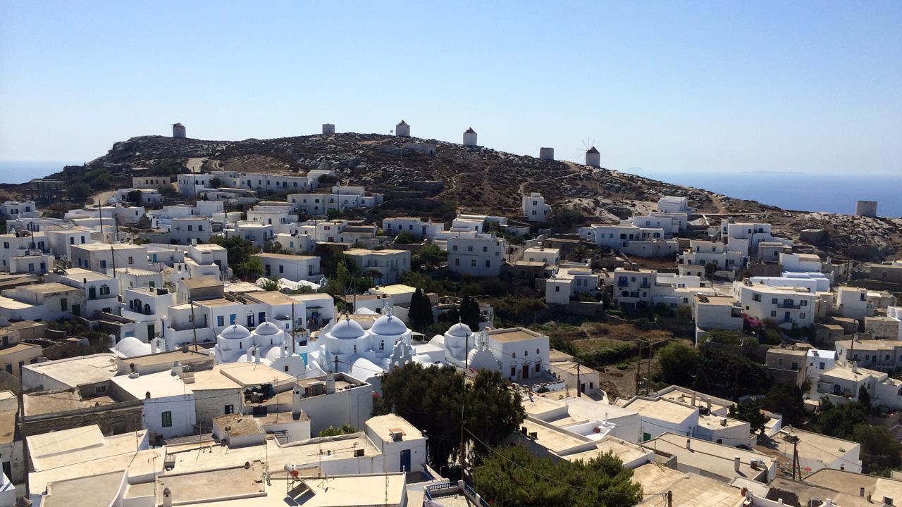 Amorgos - Vue sur la Chora