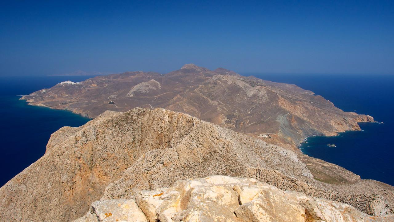 Anafi - Vue depuis le rocher de Kalamos.