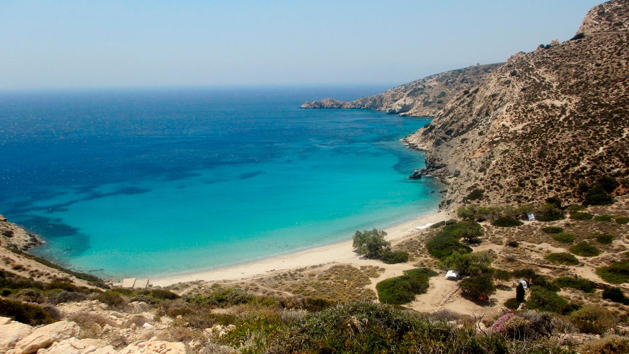 Plage de Donoussia, Cyclades, Grèce
