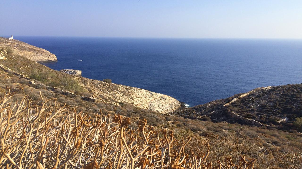 Folegandros, Cyclades, Grèce - Chemin pour la plage de Livadaki