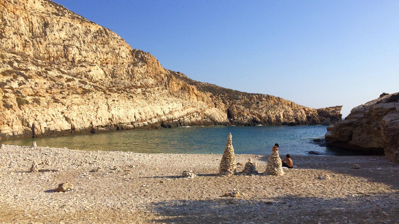 Folegandros, Cyclades, Grèce - La plage de Livadaki