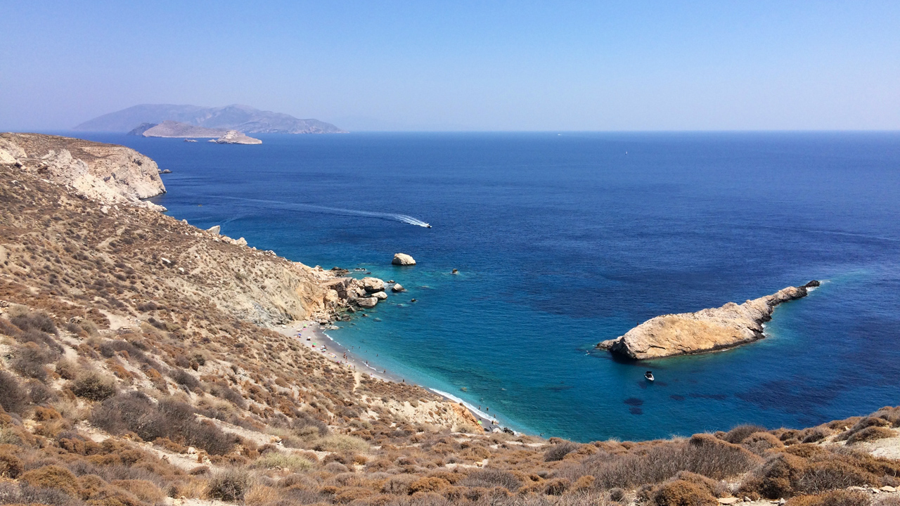 Folegandros, Cyclades, Grèce - Plage de Katergo