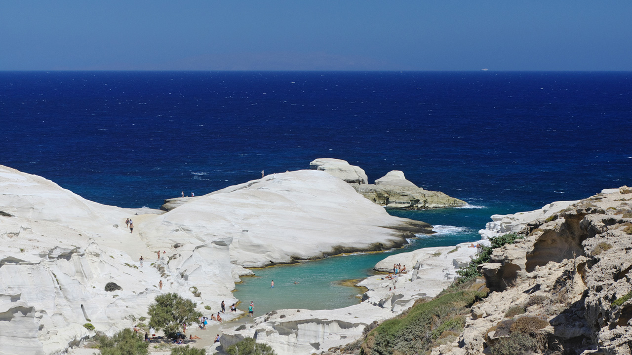 Milos - plage de Sarakiniko