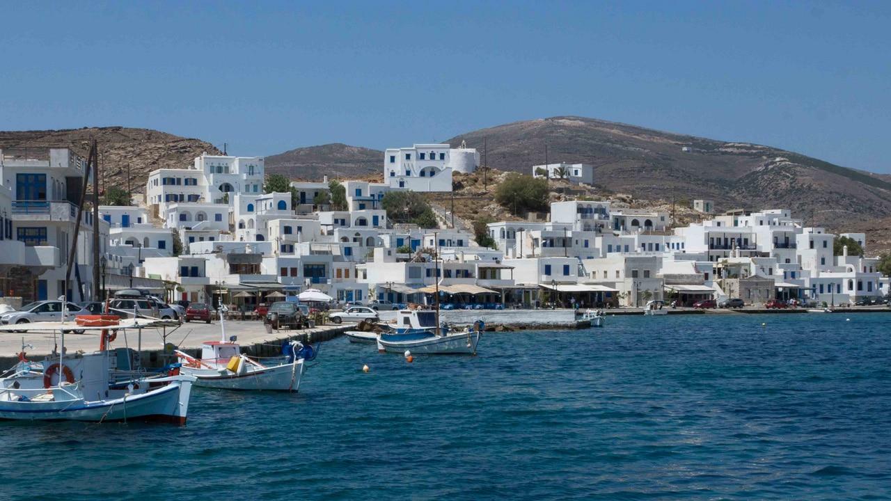 Tinos, Grèce: le port