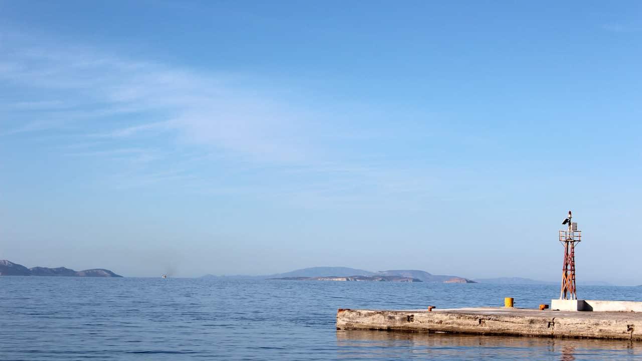 Port de Donoussa dans les cyclades