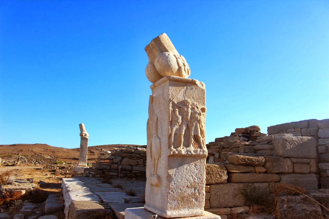 Vestiges archéologiques sur l'ile de Délos