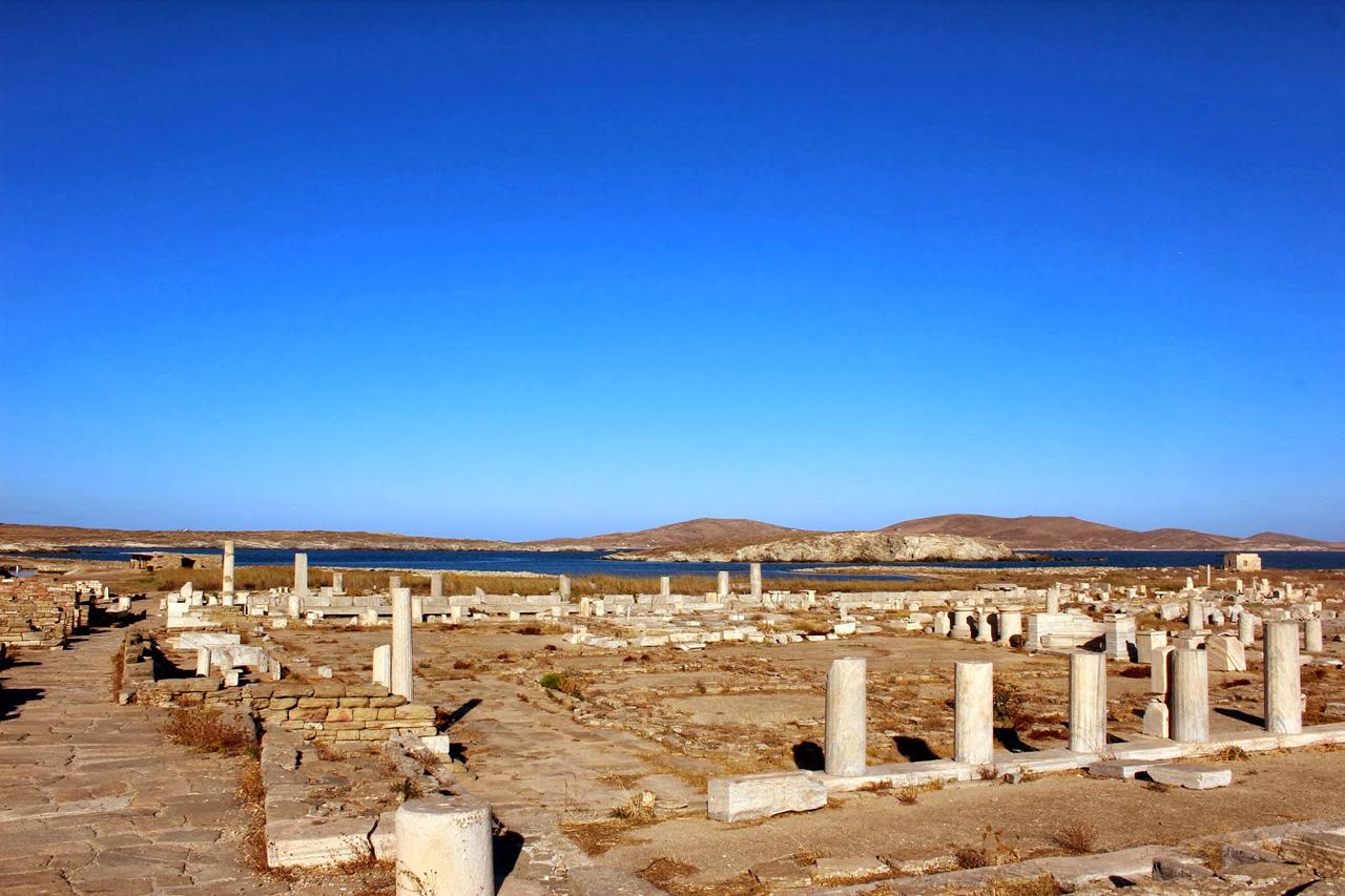Panorama des vestiges archéologiques à Délos