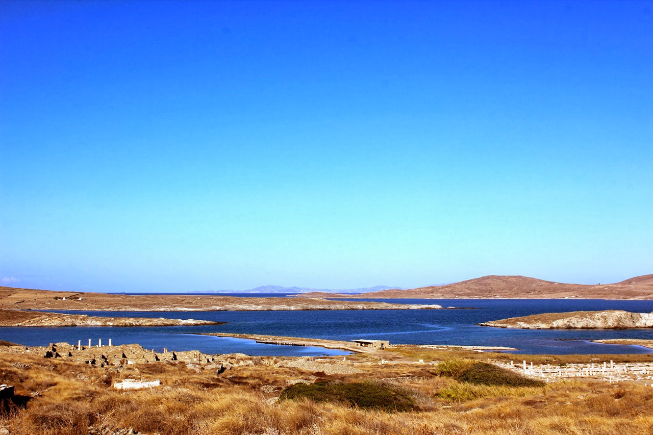 Panorama sur l'île de Délos