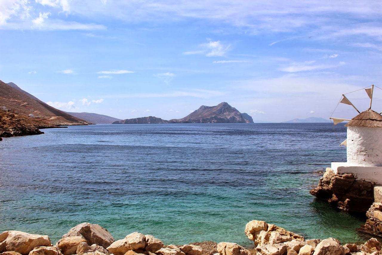 Aegiali à Amorgos dans les Cyclades
