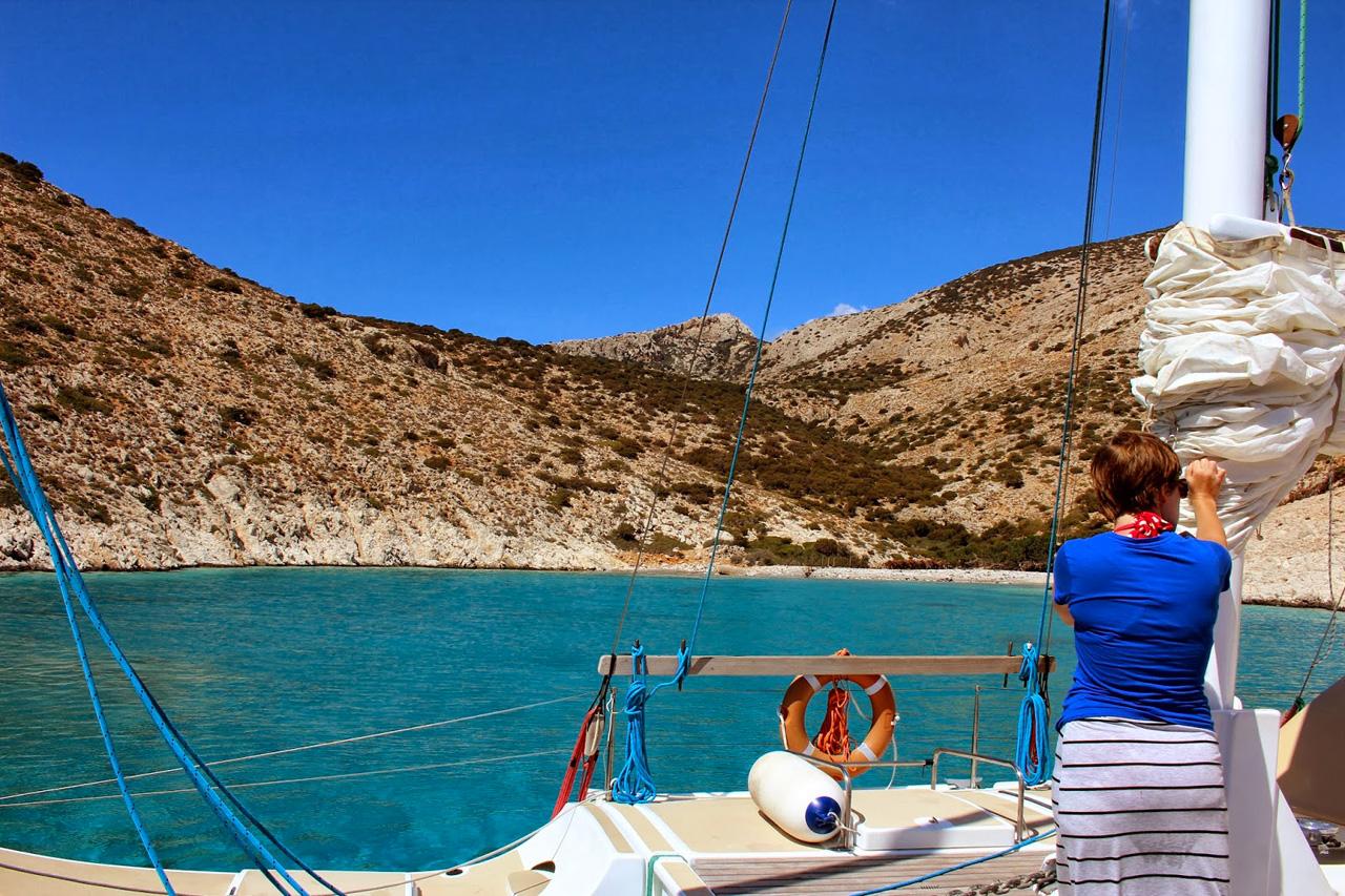 En Catamaran à Keros dans les petites Cyclades