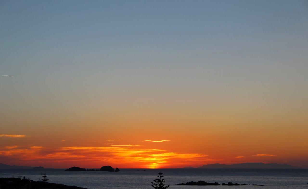 Coucher de soleil sur Paros dans les Cyclades