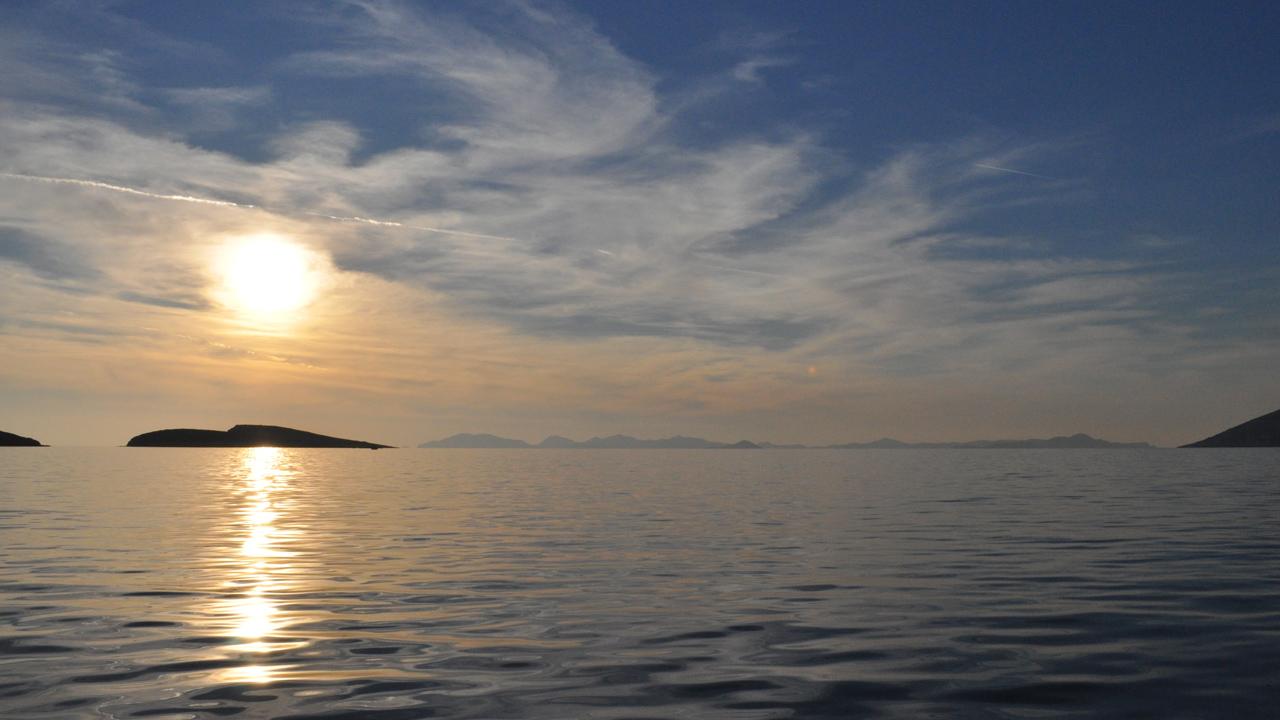 Lipsi, Grèce - soleil couchant