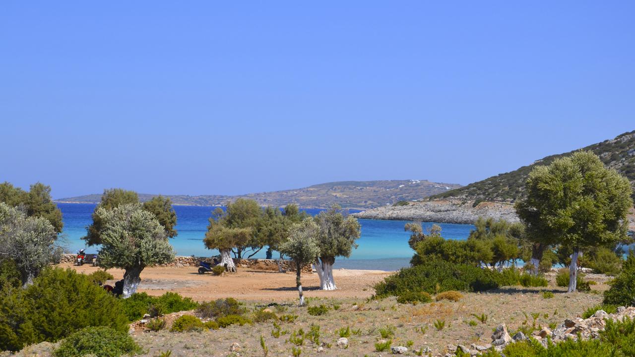 Lipsi, Grèce - Vue de la plage