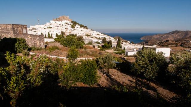 Patmos - vue sur la hora et Monastère de Saint-Jean-le-Théologien