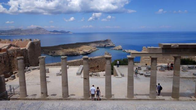 Rhodes, Grèce - Vue depuis le temple de Lindos