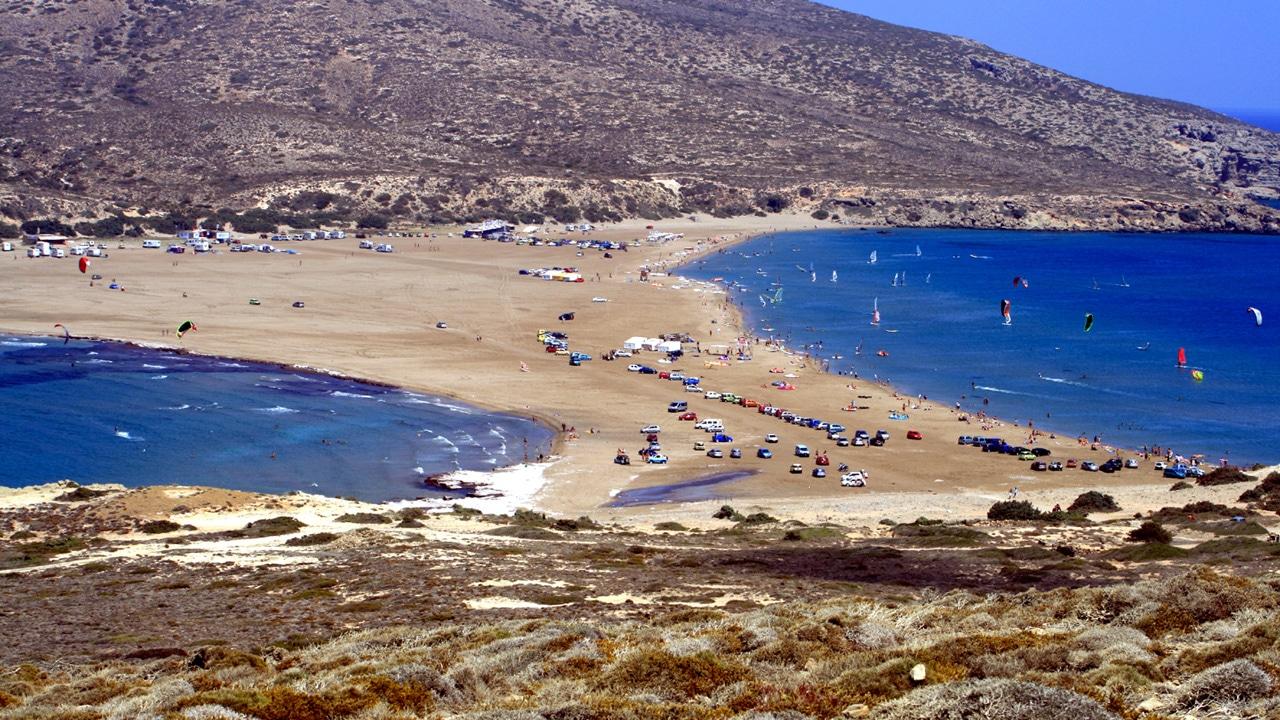 Rhodes, Grèce - Plages de Prassonisi au sud de Rhodes