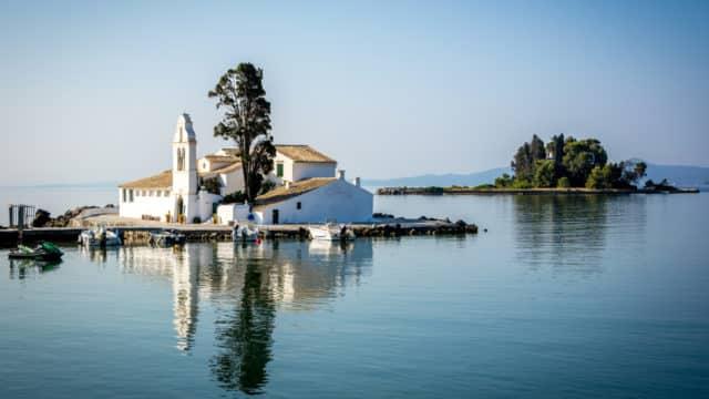 Corfou, Grèce - Île de Pontikonisi (de la souris)