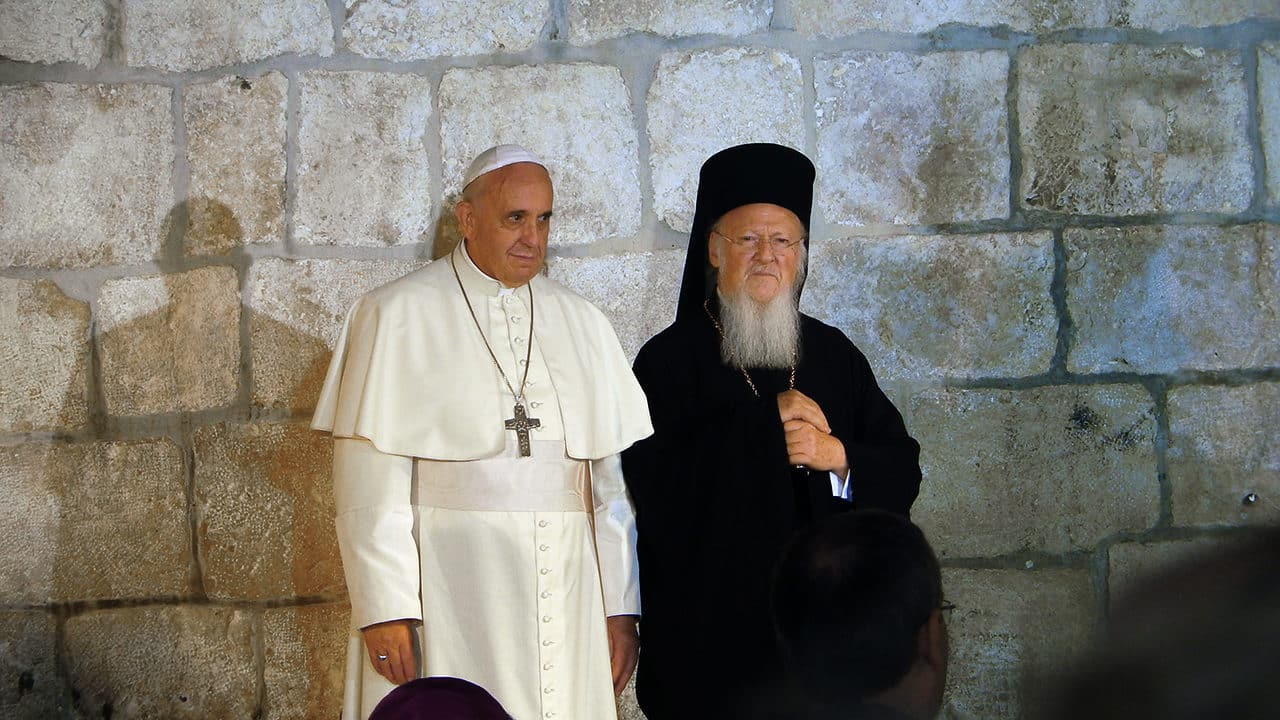Orthodoxie et Catholicisme Le pape François et le patriarche Bartholomée Ier.